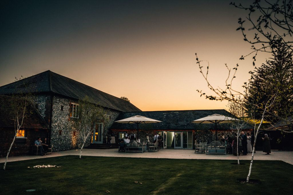 The sun sets and the fun starts when Hampshire Event DJs provide services for Wedding DJ at Farbridge Barn
