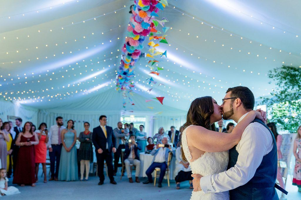Hampshire Event DJs provided the first dance for Peter and Tess when they booked them to be wedding DJ at The Mill At Gordleton