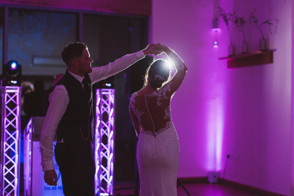 First dance for Gina and Adam with Hampshire Event DJs, the first choice to DJ at Millbridge Court.