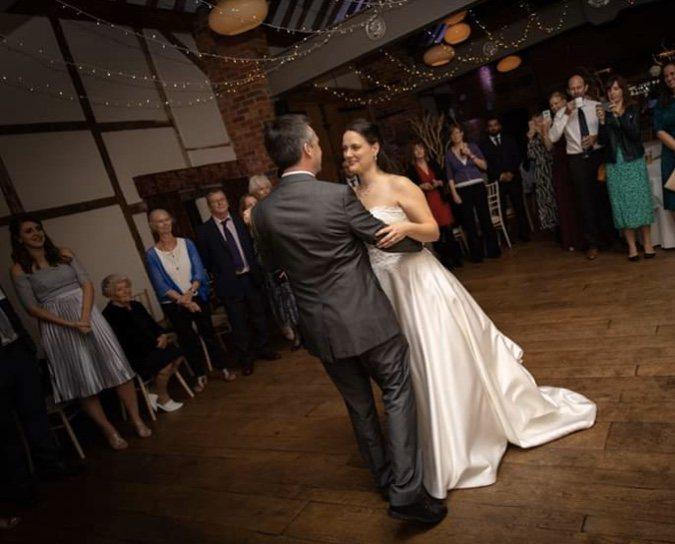 A first dance provided a Lainston House Wedding DJ