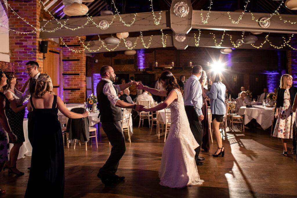 Party fun with a Lainston House Wedding DJ