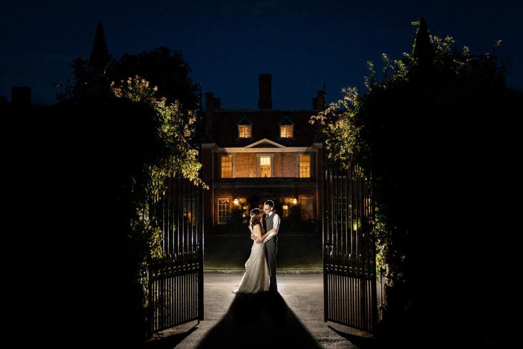 A couple who booked a Lainston House wedding DJ