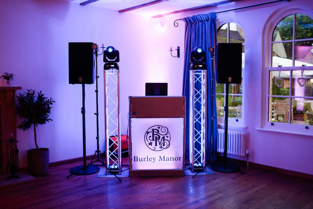 Hampshire Event DJs at Burley Manor